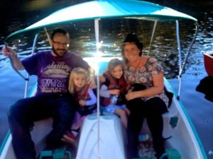 The good old family paddle boat ride... it has to be done!