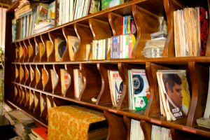 The Italian 45s (records) at Paris Style Barber Shop