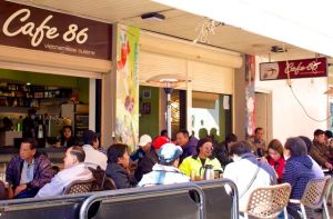 Cafe 86 full of local men